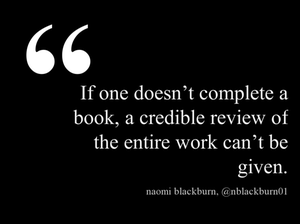 Naomi Blackburn - DNF reviews quote